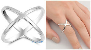 Sterling-Silver-925-PRETTY-CRISS-CROSS-DESIGN-SILVER-BAND-RING-19MM-SIZES-5-12
