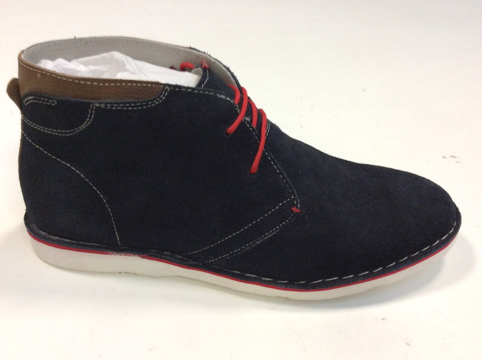 Chaussure mode summer Bsl tipo Clarks genuine leather bluee man very light