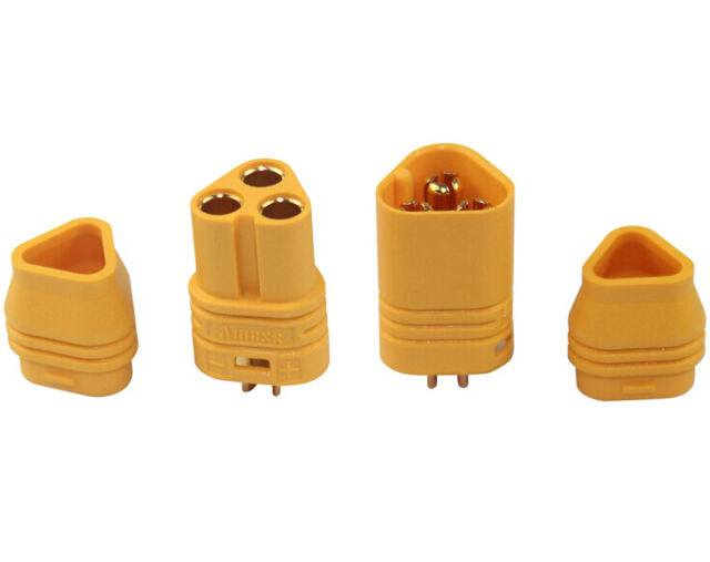 10Pair Amass MT60 3.5mm Motor Plug Connector for RC ESC 3-Wire Set Lipo Battery