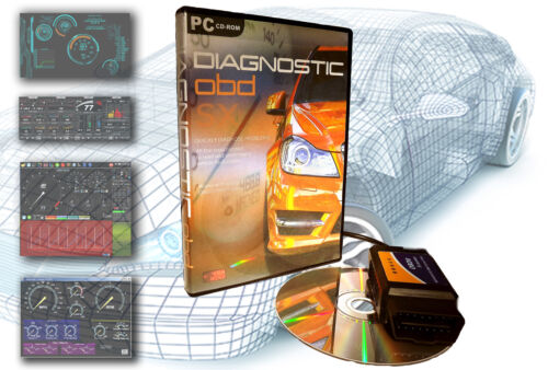 OBD Software for ALL CARS 1996-2018 Professional Diagnostic Pack EOBD 1/&2 II