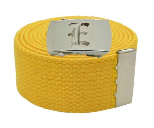 "60 72 Inches 25 Color 54 Canvas Military Web Belt /& BIG /""E/"" Silver Buckle 48"