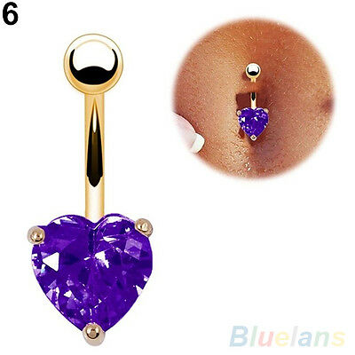 Popular Navel Belly Ring Rhinestone Button Bar Barbell Body Piercing Jewelry