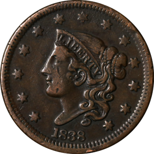 1838 Large Cent Great Deals From The Executive Coin Company