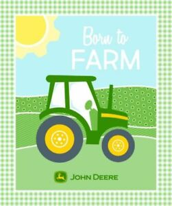 JOHN DEERE PEACE LOVE AND TRACTOR PANEL FABRIC CP64082