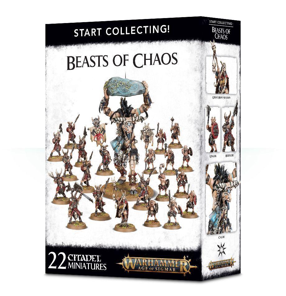 Warhammer edad de Sigmar  empezar a recolectar  Besteias del caos GW 70-79 Nuevo En Caja