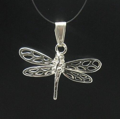 Sterling Silver Pendant Charm Dragonfly Solid Hallmarked 925 PE000557