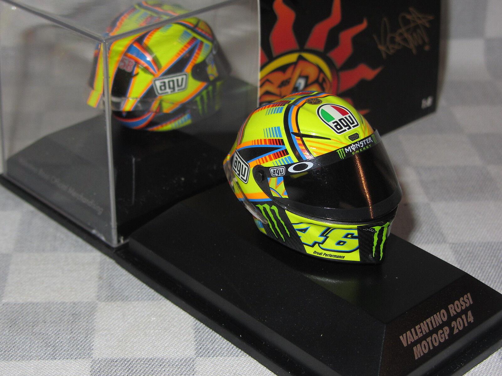 1 8 MINICHAMPS AGV REPLICA HELMET VALENTINO ROSSI MOTO GP 2014  398 140046