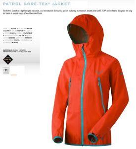 NEW-Dynafit-Patrol-GTX-Womens-Medium-Orange-Gore-tex-Shell-Ski-Jacket-Msrp-400