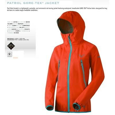 NEW Dynafit Patrol GTX Womens Medium Orange Gore-tex Shell Ski Jacket Msrp$400