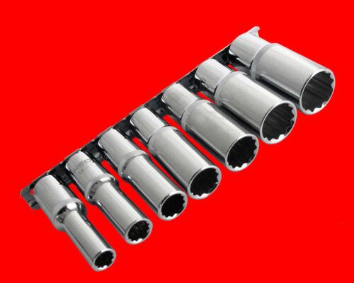 7 pcs longtemps 1//2 douilles clés à douille 12 pans Ecrou 10-12-13-14-15-17-19 mm un