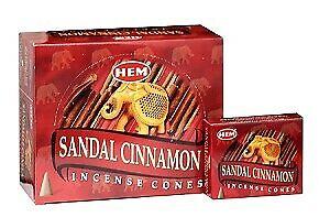 Sandal Cinnamon Hem Incense Cones Bulk U Pick 10-20-30-50-70-100-120 Wholesale