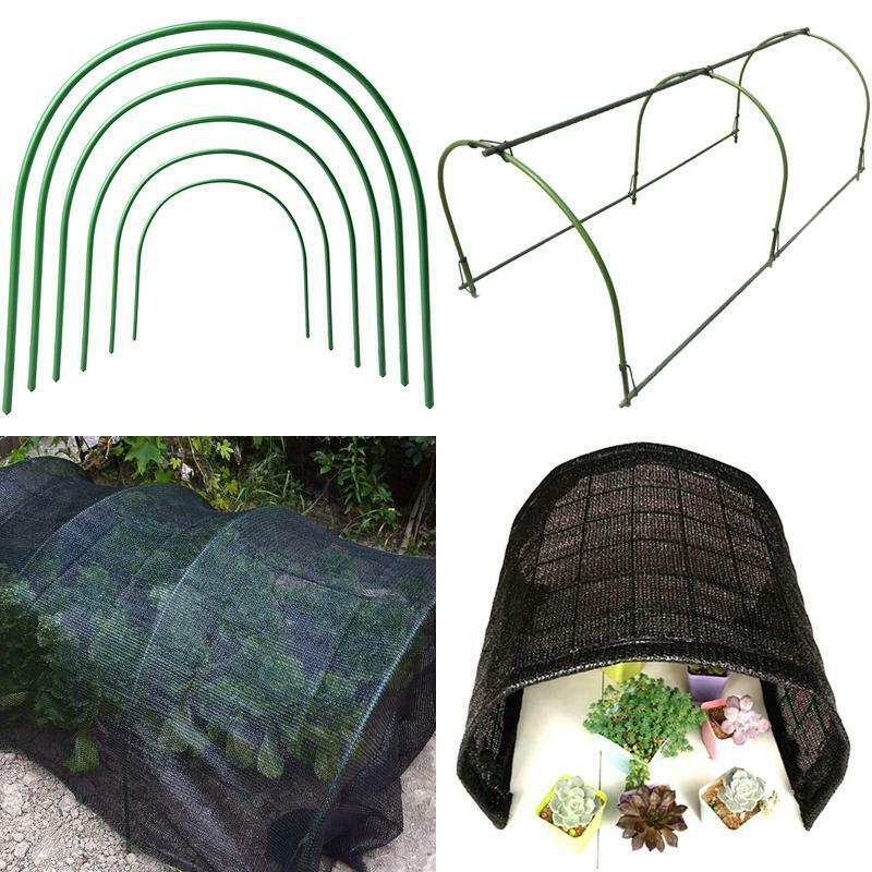 Vkty 6-Pack Greenhouse Hoops For Netting,Plastic Coated Support Hoops For Vegeta