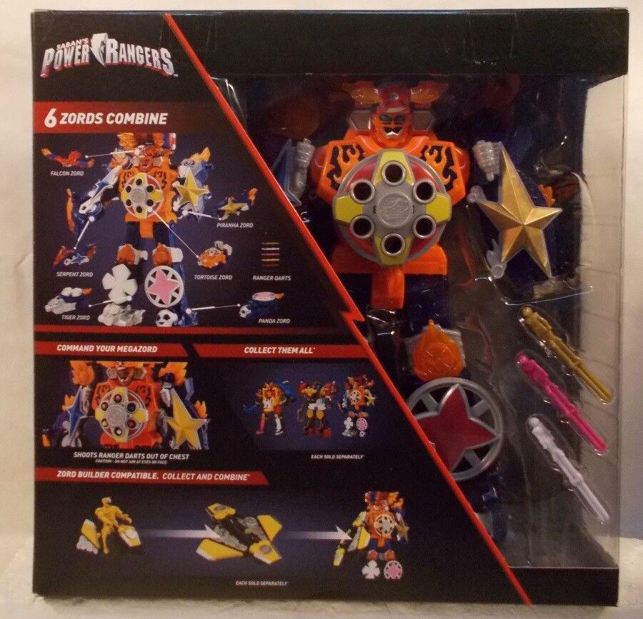 Power Rangers Super Ninja Steel Blaze Megazord 6 Zords Combine Falcon Tiger MIB