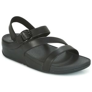 Fitflop The Skinny Ii Z Strap Leather Black Sandals Ebay