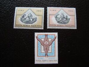 Vatican-Stamp-Yvert-and-Tellier-Air-N-56-57-59-N-A6-Stamp