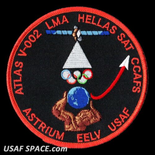 USAF CCAFS ORIGINAL SATELLITE SPACE PATCH HELLAS SAT ATLAS V 002 Launch