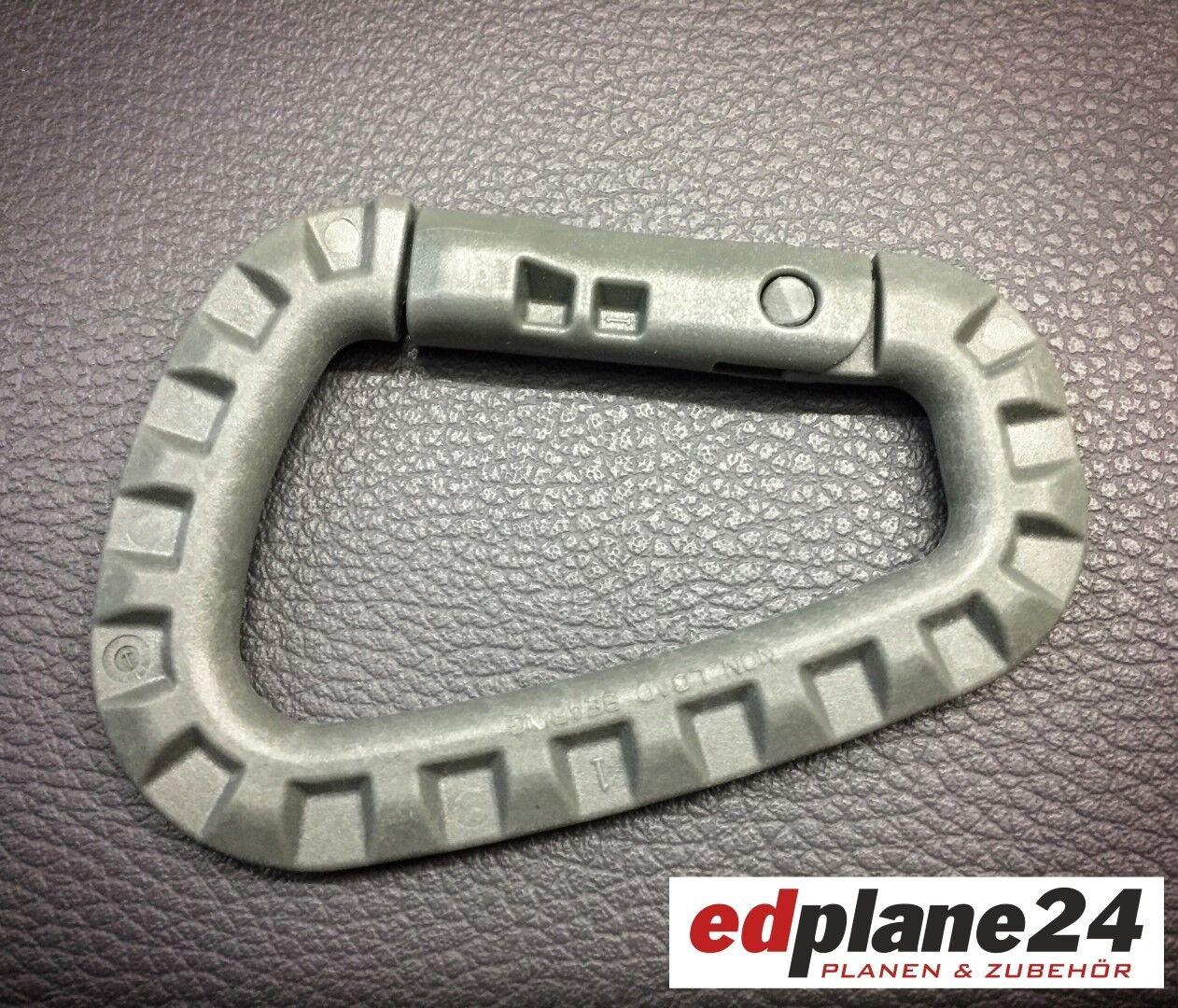 10 x Karabiner Kunststoff Kunststoff Kunststoff ca.olivgrün glasfaserverstärkt Schlüsselanhänger 076700