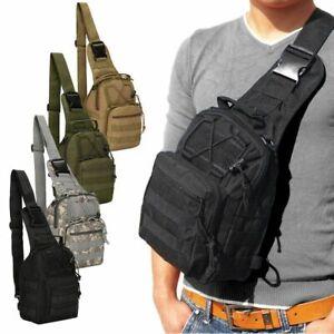 Outdoor Men Backpack Molle Tactical Sling Chest Pack Shoulder Bag Travel Hiking