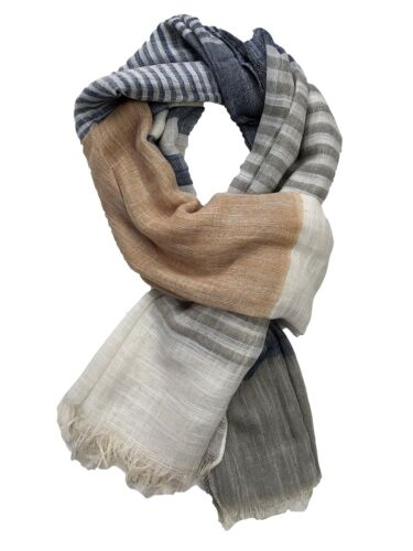 New Ladies Stripe Scarves Womens Head Scarves New In Style Hijab Snood