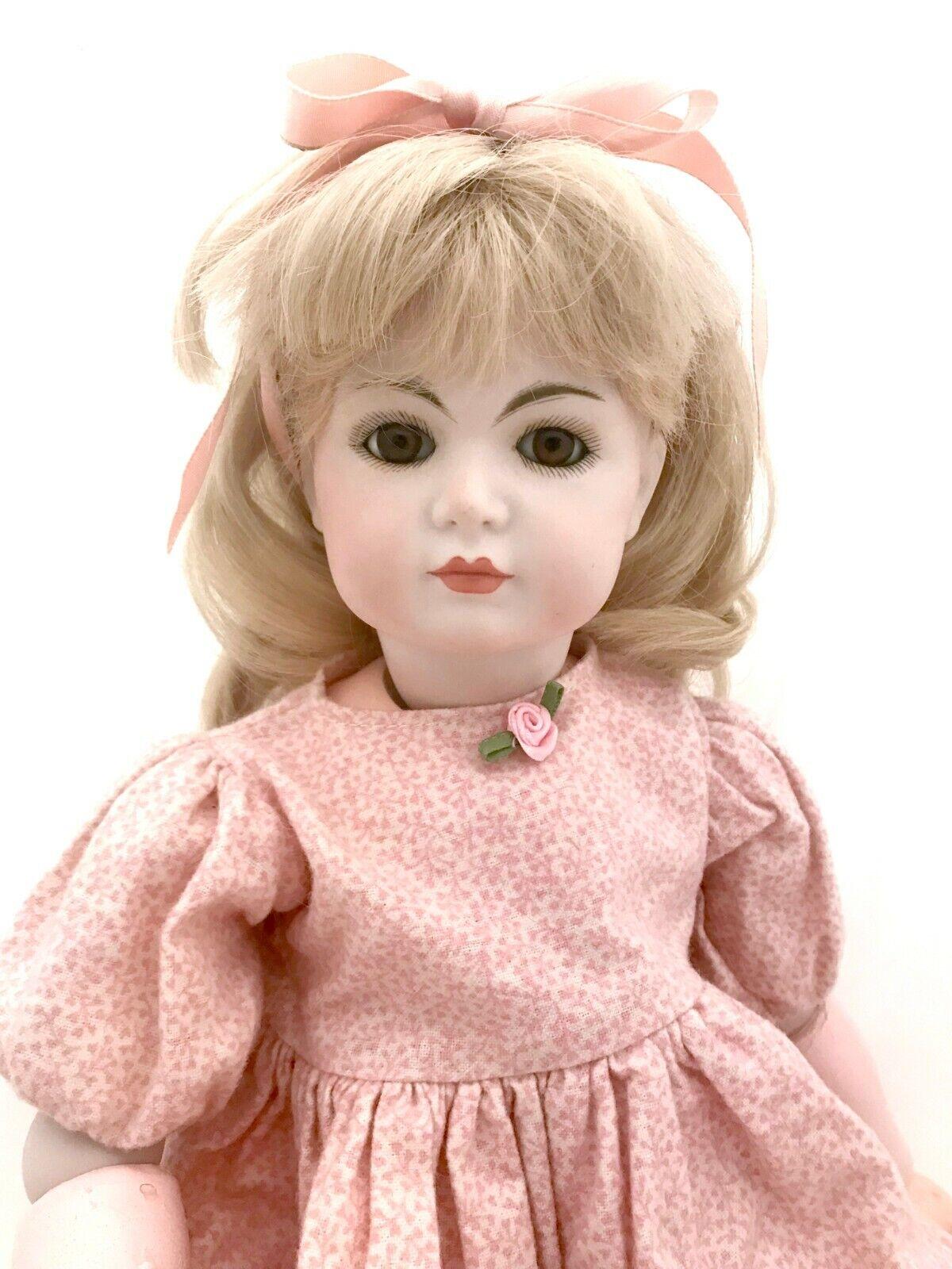 18  Antique Repro 117 A Simon Halbig German Bisque Doll Head By Oalseg 1982