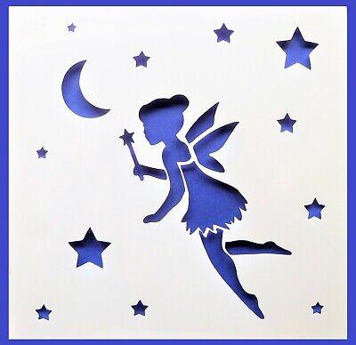 Flexible Stencil *FAIRY STARS MOON* Fantasy Celestial Card Making 14cm x 14cm