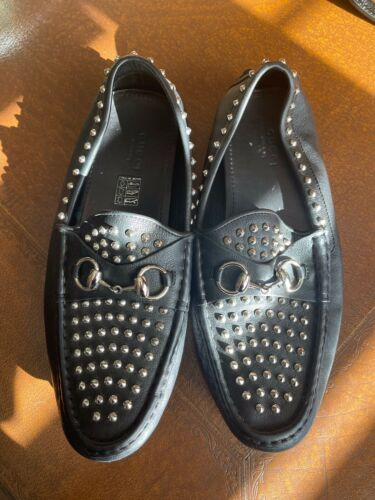 Gucci Studded Loafers 38.5