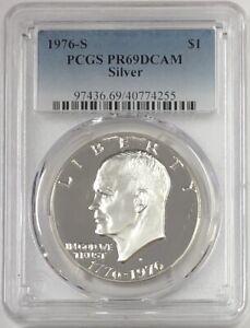 1976-S-Eisenhower-Ike-Silver-Dollar-PCGS-PR69CAM-Proof