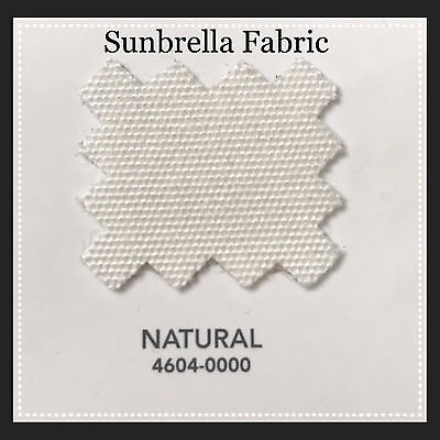 "Sunbrella Fabric 46/"" Wide Natural #4604 3 Yards"