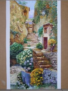 ORIGINAL OIL PAINTING LANDSCAPE ITALY CITYSCAPE ART BY ARTIST