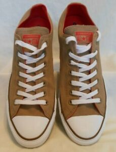 unisex-beige-tan-CONVERSE-ALL-STAR-low-oxford-sneakers-size-men-10-women-039-s-12