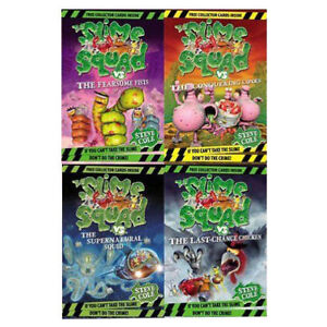Steve-Cole-Collection-Slime-Squad-Series-4-Books-Set-Pack-Conquering-Conks-NEW