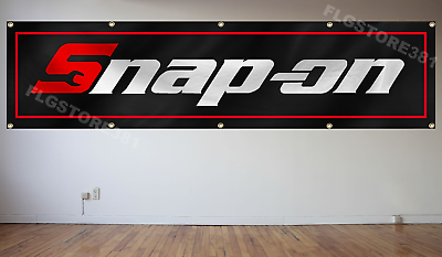 Snap-on Banner Flag Tools 2x8Ft banner US Shipper
