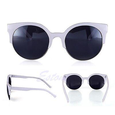 Fashion Retro Vintage Oversized Cat Eye Sunglasses Round Black Unisex Designer