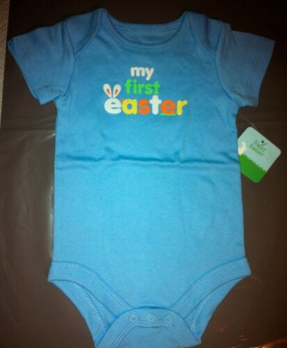 """1 Girl avail. Baby Infant Onsey /""""My First easter/"""" Faded Glory 1 Boy"""