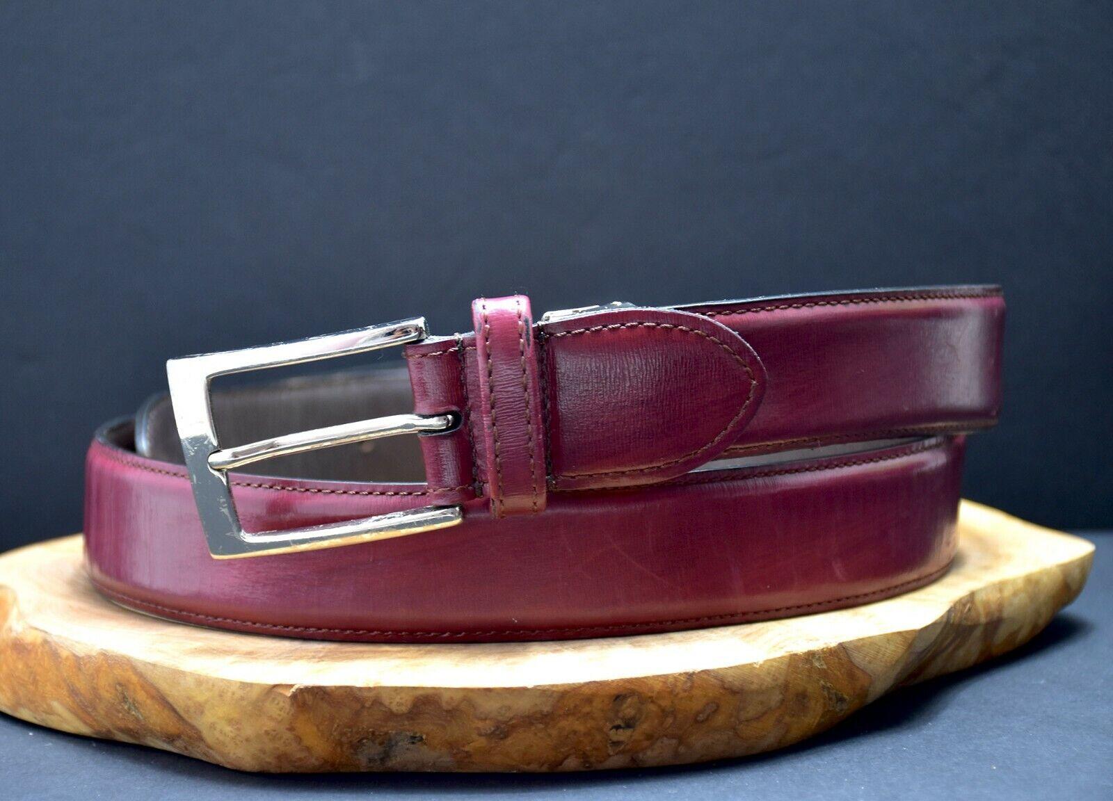 Balteus Mens Original Ledergürtel Hergestellt IN Japan Rot-Braun Größe 36