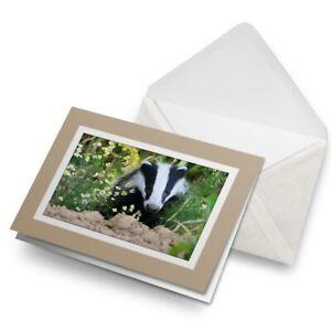Greetings-Card-Biege-European-Forest-Wild-Badger-15713