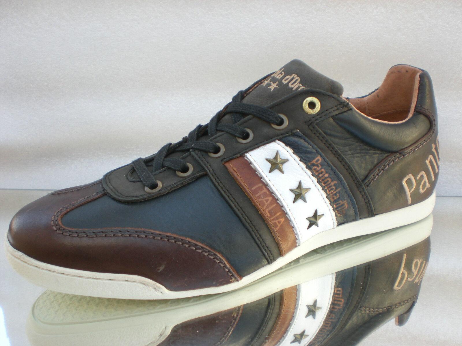 Original PANTOFOLA d.ORO Ascoli Cortina Cortina Cortina Niedrig LederTurnschuhe Sneaker Gr:43- 44Neu 496b11