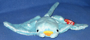 c9c4d9b2a82 TY SUNRAY the MANTA RAY BEANIE BABY - MINT with MINT TAGS 8421045983 ...
