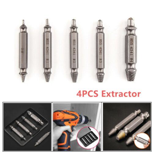 5PCS Damaged Screw Stud Bolt Remover Puller Extractor Nut Splitter Tool Steel