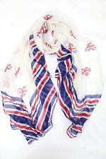 B86  Red White Blue Union Jack Heart & Stripe  Scarf  Shawl Wrap Boutique