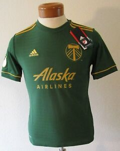 online store db423 54bd5 Details about NWT Adidas Portland Timbers 2018 Youth Primary Home Replica  Jersey L Green $70