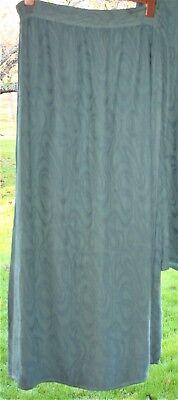 """SAHARA Skirt L Waist 36"""" to 44"""" L40 Extra-Long Dusky-Green Embossed Flock Swirl"""