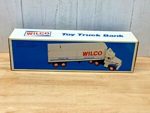 Vintage 1988 Wilco Gasoline Toy Truck Coin Bank NIB NOS