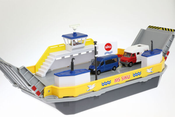 NEW SUPER SIKU 1750 Car Ferry with 2 Vehicles 1 50 Diecast Model - RETIrosso