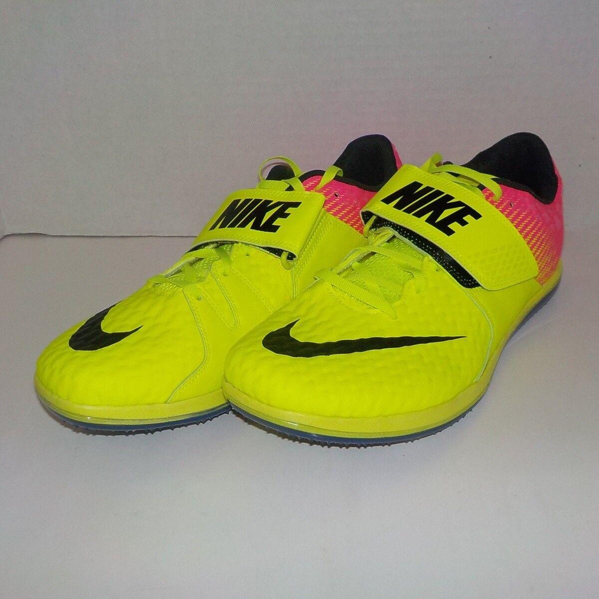Nike HIGH JUMP ELITE Track Field VOLT PINK 806561 999 SIZE 9.5 Bag+Spikes & SRT