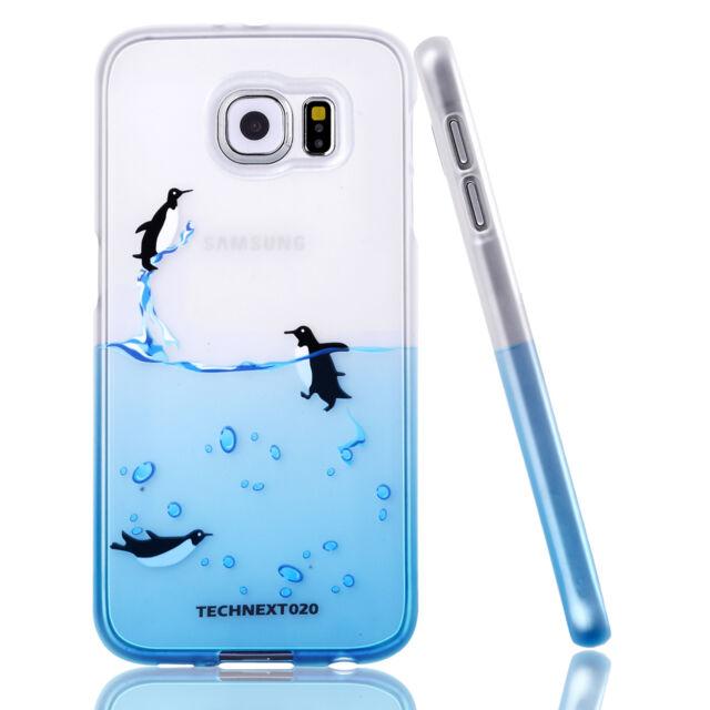 For Samsung Galaxy S6 Case Silicone Bumper Gel Soft Cover Pattern Cute TPU Skin