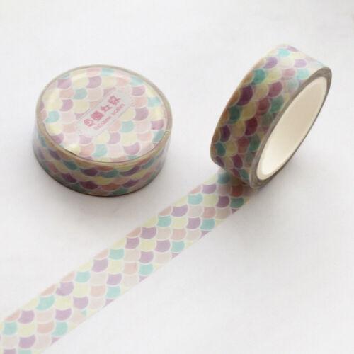 7 M Girl/'s Floral Washi Tape Scrapbooking Masking Tapes Sticker Stationery DIY
