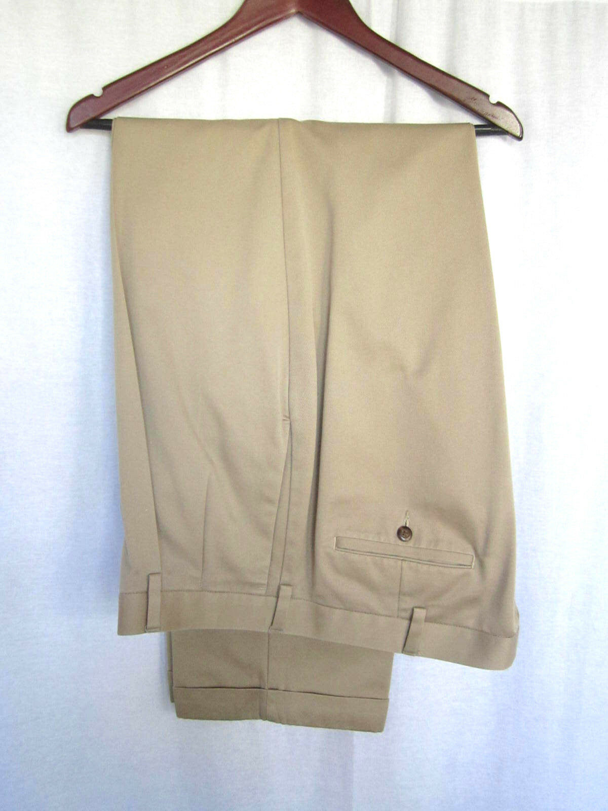 Savane Select Edition Men's Casual Pants 40x32 Tan 100% Cotton