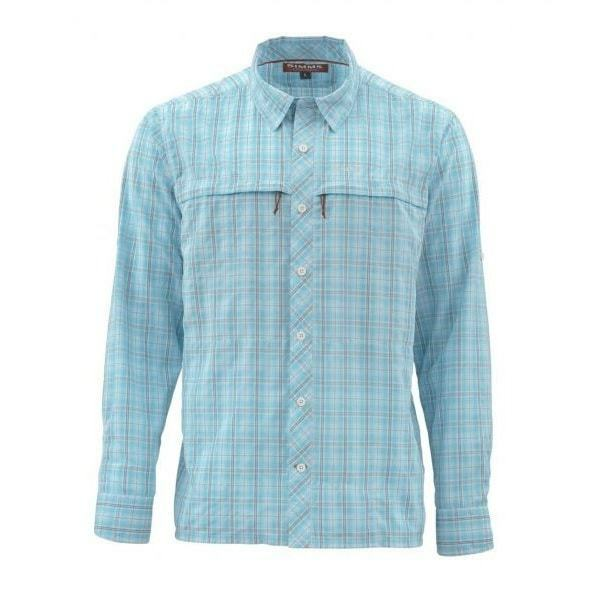 SALE Simms Stone Cold LS Shirt Teal Plaid XL NEW FREE SHIPPING