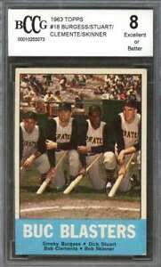 Burgess-Stewart-Skinner-Roberto-Clemente-Card-1963-Topps-18-BGS-BCCG-8